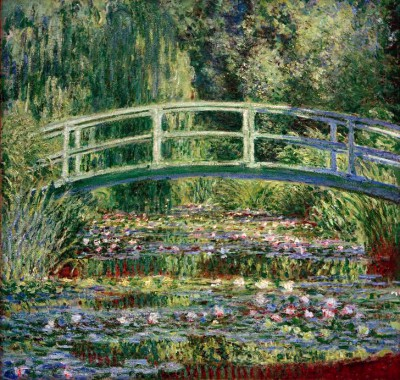 Waterlilies and Japanese Bridge - Claude Monet