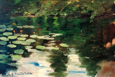 Waterlilies in the Pond - Gustave Caillebotte