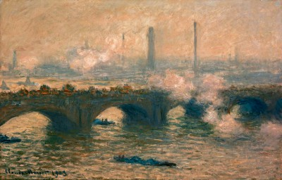 Waterloo Bridge, grey day - Claude Monet
