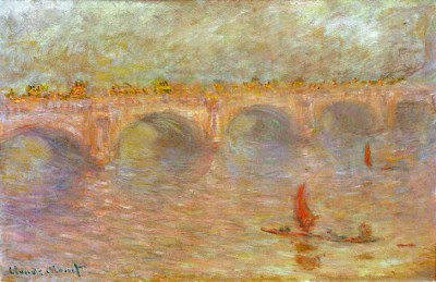 Waterloo Bridge, sun - Claude Monet