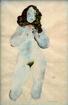 Weiblicher Akt - Egon Schiele