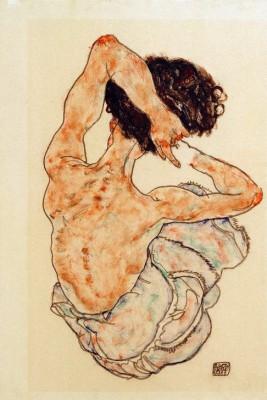 Weiblicher Rückenakt - Egon Schiele