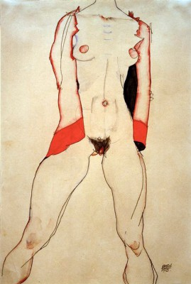 Weiblicher Torso - Egon Schiele