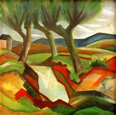 Weiden am Bach - August Macke