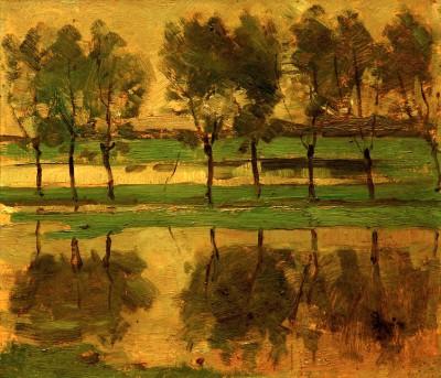 Weidenbäume mit Sonne - Piet Mondrian