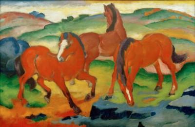 Weidende Pferde II - Franz Marc