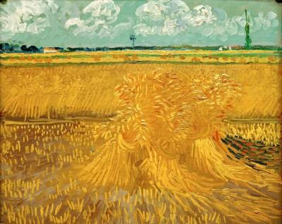 Weizenfeld mit Kornbündel - Vincent van Gogh