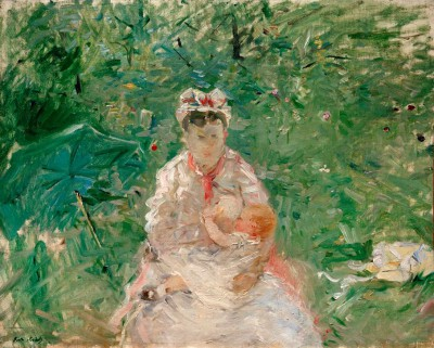 Wet nurse and baby - Berthe Morisot