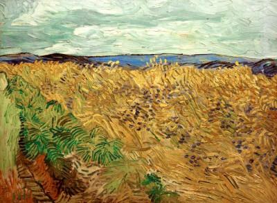 Wheat Field with Cornflowers - Vincent van Gogh