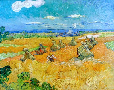 Wheat Field with Reaper - Vincent van Gogh