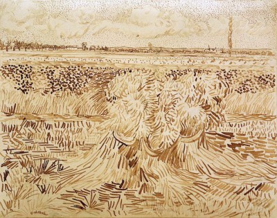 Wheat Field with Sheaves - Vincent van Gogh