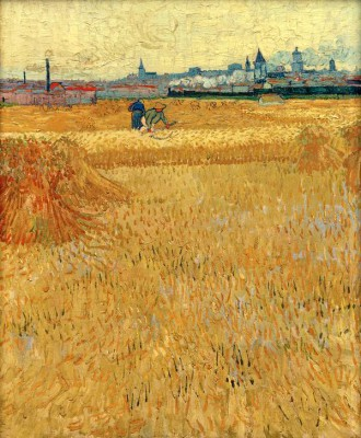 Wheat field with view of Arles - Vincent van Gogh