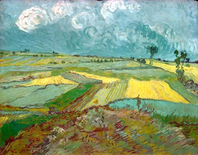 Wheatfields in Auvers with rainclouds - Vincent van Gogh