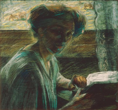 While reading - Umberto Boccioni