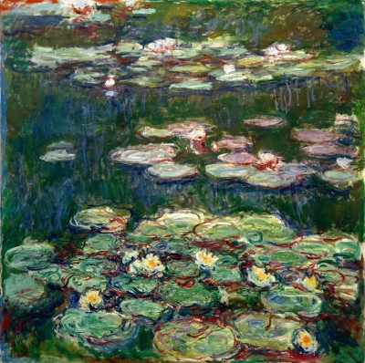 White and Yellow Waterlilies - Claude Monet