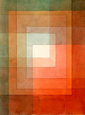 White framed polyphonically - Paul Klee