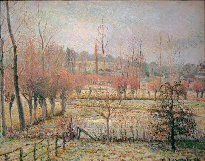 White frost, morning (snow in Eragny) - Camille Pissarro