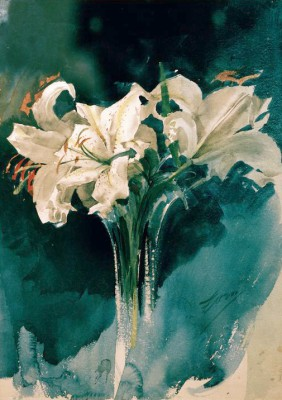 White Lilies - Anders Zorn