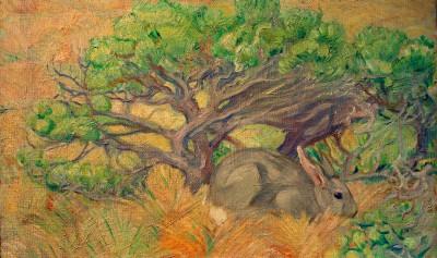 Wildes Kaninchen - Franz Marc