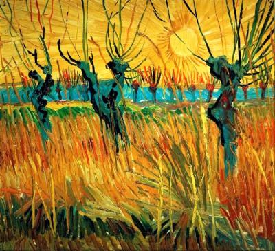 Willows at Sunset - Vincent van Gogh
