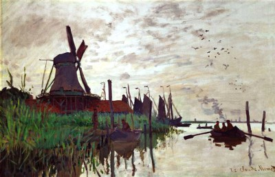 Windmill in Zaandam near Amsterdam - Claude Monet