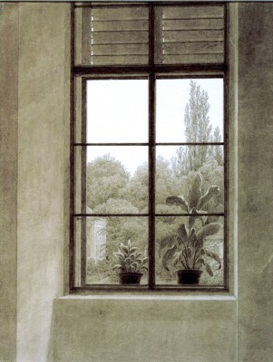 Window with view of a park - Caspar David Friedrich