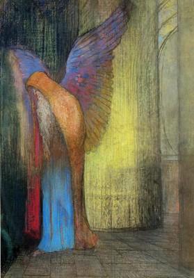 Winged Old Man - Odilon Redon