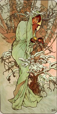 Winter - Alfons Mucha