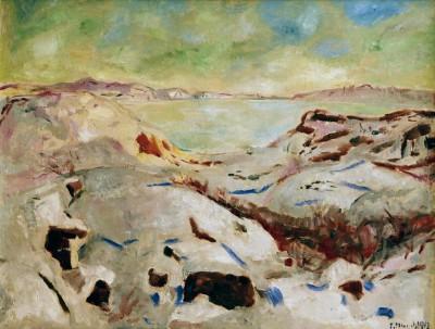 Winter in Kragerö (Winter on the coast) - Edvard Munch