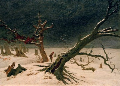 Winter landscape - Caspar David Friedrich