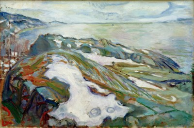 Winter landscape - Edvard Munch