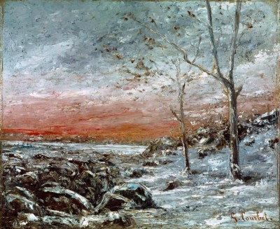 Winter landscape - Gustave Courbet