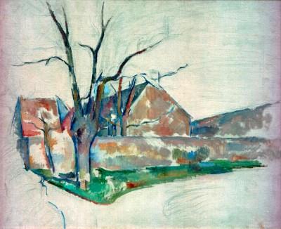 Winter landscape - Paul Cézanne