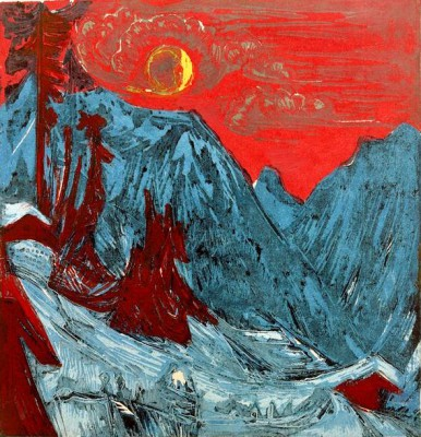 Winter landscape by moonlight - Ernst Ludwig Kirchner
