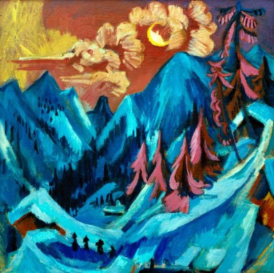 Winter landscape in moonlight - Ernst Ludwig Kirchner