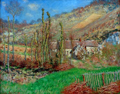 Winter landscape in the Falaise valley - Claude Monet