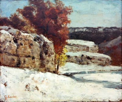 Winter landscape near Ornans - Gustave Courbet