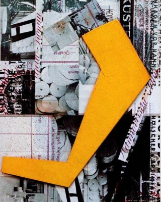 With yellow form - Kurt Schwitters