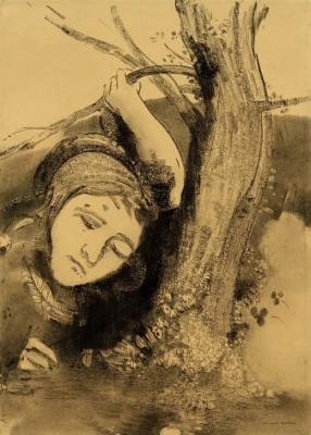 Woman and tree - Odilon Redon