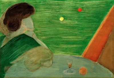 Woman at the billiard table - Marianne von Werefkin