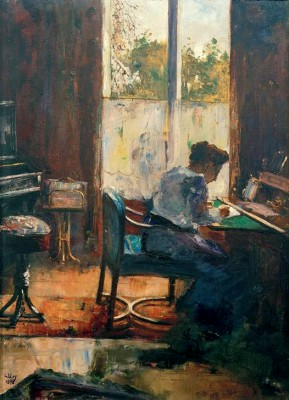 Woman at the desk - Lesser Ury