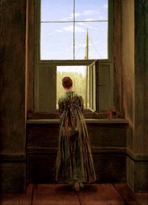 Woman at the window - Caspar David Friedrich