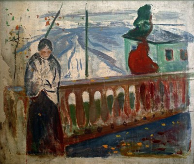 Woman by the balustrade - Edvard Munch
