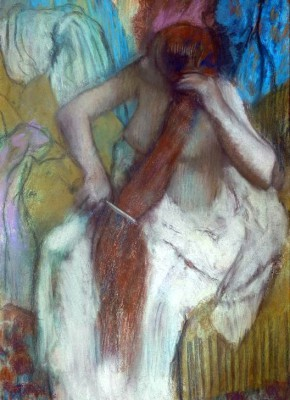 Woman combing her hair (2) - Edgar Degas