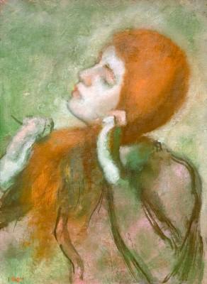 Woman combing her hair (3) - Edgar Degas