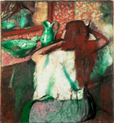 Woman combing her Hair (5) - Edgar Degas