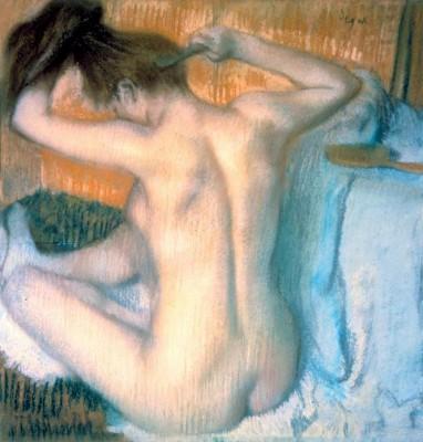 Woman combing her Hair - Edgar Degas