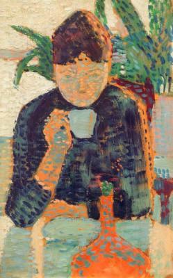 Woman drinking I - Paul Signac