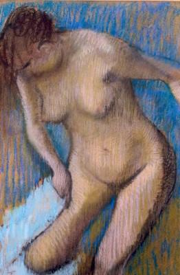 Woman drying her right leg - Edgar Degas