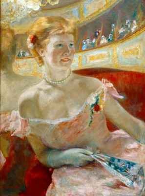 Woman in a Box with a pearl necklace - Mary Cassatt